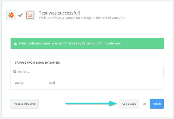 Если требуется добавить еще какое-то действие, можно кликнуть по кнопке «Add a Step»