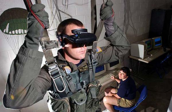 парашютный тренажер виртуальной реальности (Virtual Reality, VR)