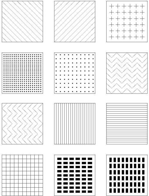 Рисунок 5: несколько примеров возможных пространственных тактильных символов.