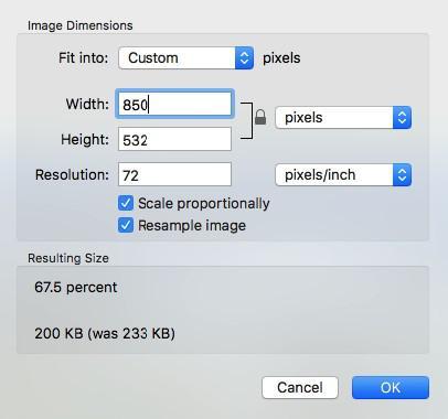Хотя атрибут width позволяет легко получить изображение нужного размера, фактически он не делает его меньше.