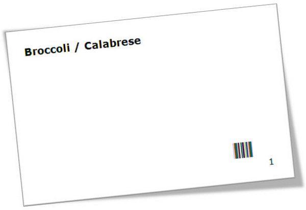 образец карточки со штрих-кодами для упрощения сбора данных
