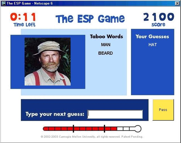 Другой интерфейс ESP-игры