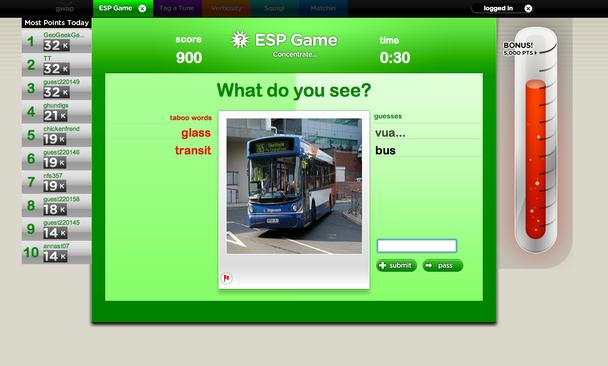 ESP-игра по угадыванию мыслей оппонента (от англ. Extra Sensory Perception — «экстрасенсорное восприятие»)