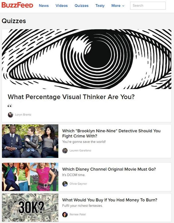 Заголовки статей на сайте BuzzFeed