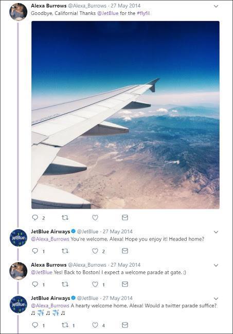 JetBlue: парад в честь пассажира