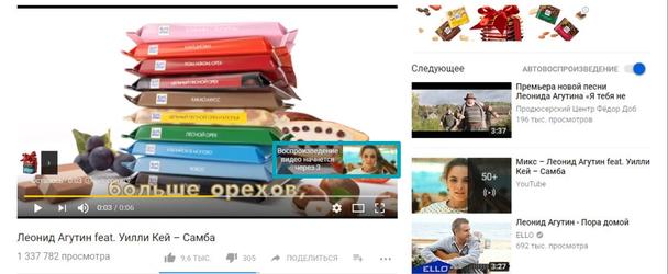 Такой вид рекламы также можно запускать в середине видео продолжительностью не менее 10 минут при условии, что реклама не превышает 15 секунд.