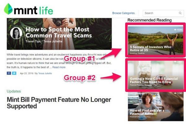 Для группы №1: 5 секретов инвесторов, которые сколотили состояние к 35. Для группы №2: Хочешь новый автомобиль? % финансовых факторов, которые нужно знать