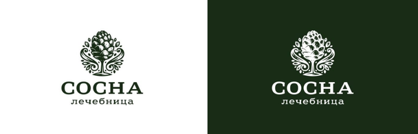 Логотип, разработанный брендинговой студией «Логомашина» для лечебного пансионата