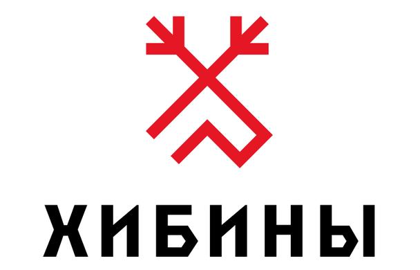 Логотип для туристической зоны «Хибины» от студии Артемия Лебедева в традиционном стиле северных народов России использует изображение оленя