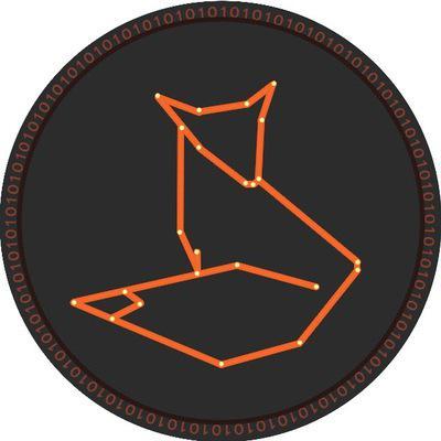 Логотип сайта CryptoFox о криптовалютах отличает простота линий и форм, образующих фигуру лисицы