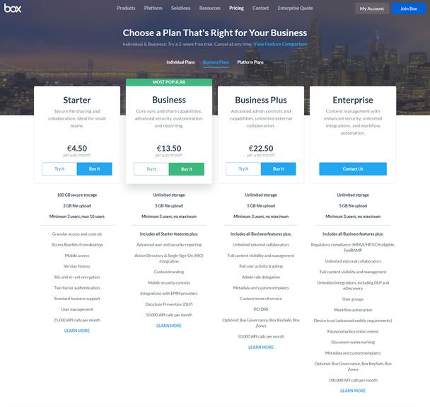 Иллюстрация к статье: Ценообразование: разбор тарифных страниц Dropbox и Box