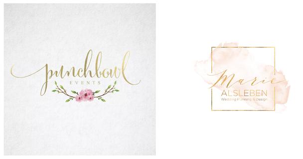 Иллюстрация к статье: 28 дизайнерских идей для логотипа на свадебном лендинге