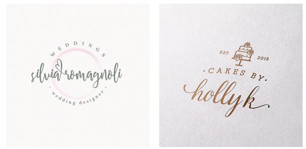 Каллиграфические свадебные логотипы