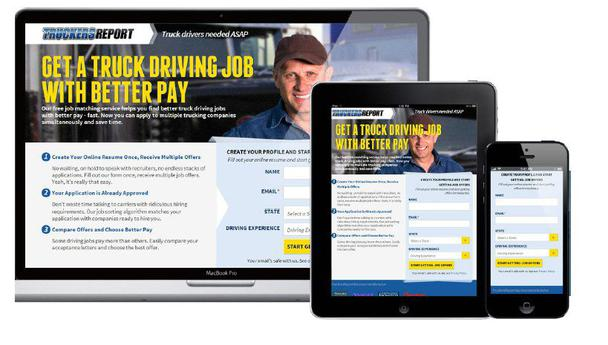 «Получи работу водителя большегрузной машины с более высокой зарплатой»