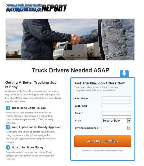 «Срочно требуются водители большегрузных машин. Поиск вакансий для водителей стал простым»