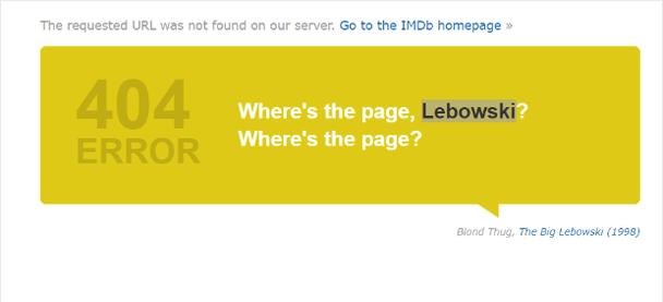 IMDB: забавная тематическая страница 404