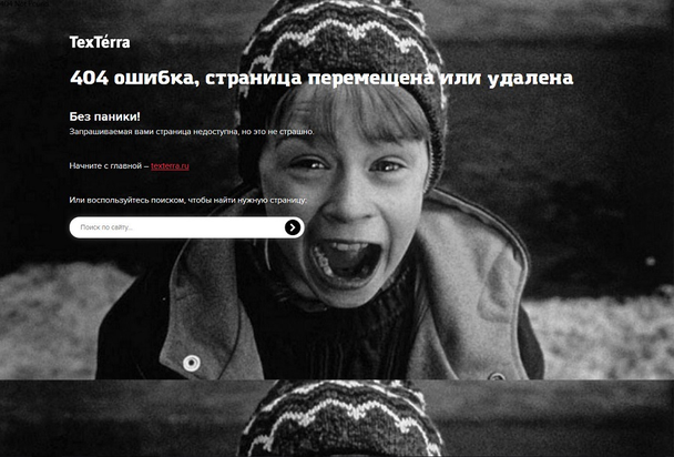 Texterra: веселая страница 404