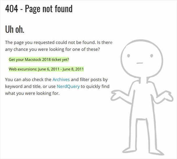 Brett Terpstra: простая страница 404