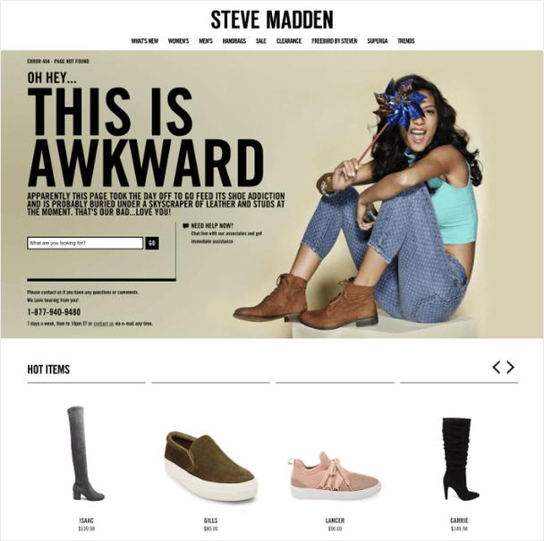 Steve Madden: страница 404 с товарами