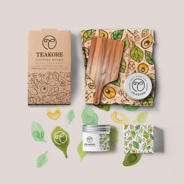 Данный дизайн выражает натуральность продуктов бренда