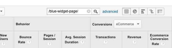Если у вас немного продуктов для проверки, можете просто ввести URL страницы в поисковое окно