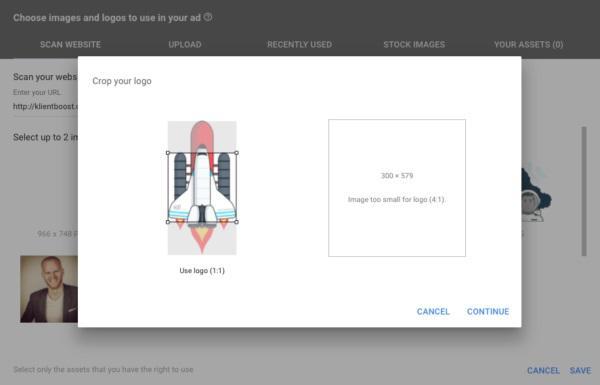 Логотип должен иметь соотношение сторон 1:1, а ракета явно не соответствует данным пропорциям