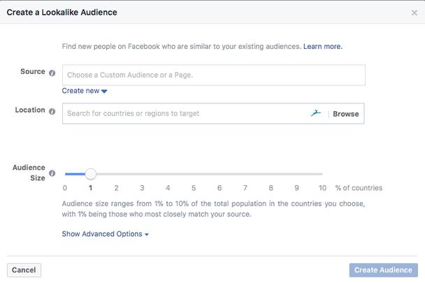 Как создать похожую аудиторию в Facebook