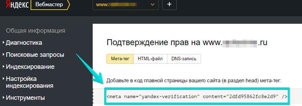 Скопируйте текст, отмеченный на скриншоте (мета-тег)