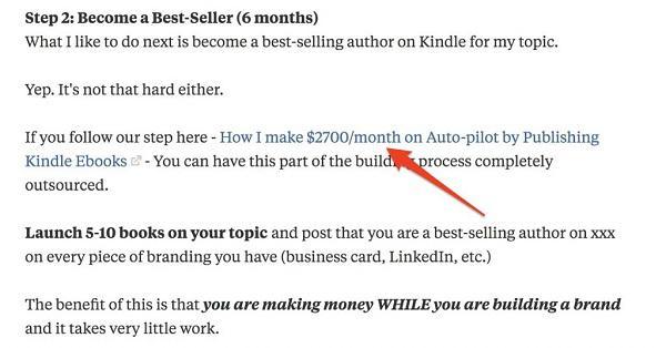 На этой странице Имран просил людей оставить email, если те хотели получать от него новый контент.