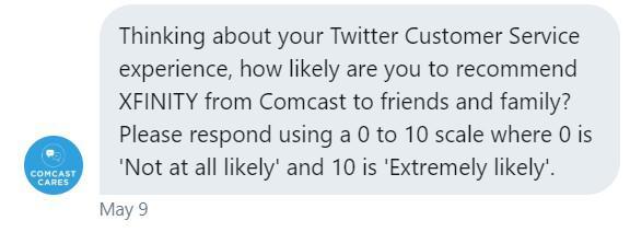 Что можете сказать о качестве работы нашей службы поддержки в Twitter? Готовы ли вы рекомендовать наш сервис своим друзьям? Пожалуйста, отправьте нам свою оценку от 0 до 10, где 0 — я абсолютно не готов рекомендовать ваш сервис, а 10 — я готов рекомендовать вас своим друзьям