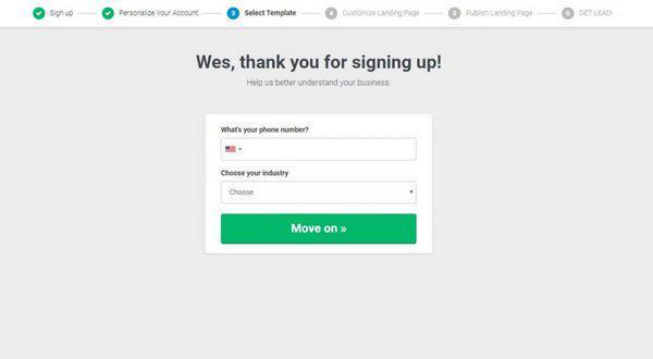 Pipefy: «Спасибо за регистрацию! Заполните форму, чтобы мы узнали о вашем бизнесе больше»