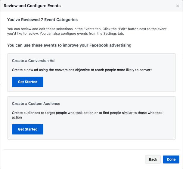 После того, как настроите отслеживание нужных автоматических событий, на их основе вы можете создать пользовательскую аудиторию.