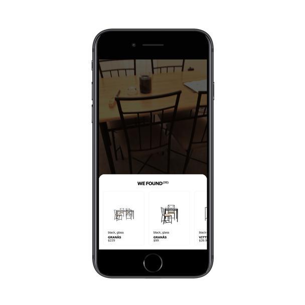 Приложение IKEA показывает пользователю похожие товары