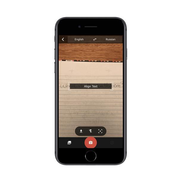 Google Translate использует камеру для поиска иностранного текста