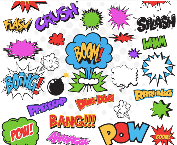 Иконки в мультяшном стиле поп-арт