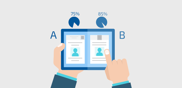 a/b testing mobile landing pages