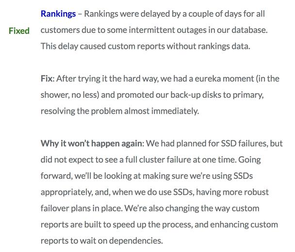 Сервис Rankings был недоступен для наших клиентов из-за сбоев в базе данных.