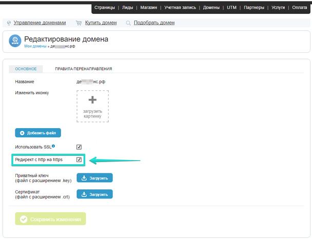 Галочка станет доступна после проверки вашего SSL сертификата, в течение двух суток.