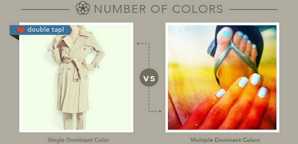 Слева — один доминирующий цвет, справа — несколько доминирующих цветов