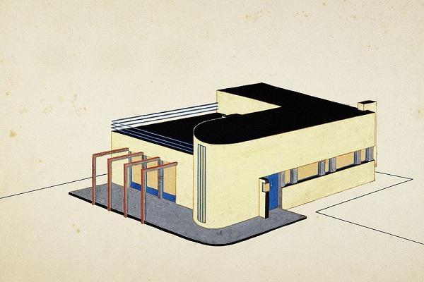 Стиль Баухауз незамысловат, без детализации. Это утилитарный стиль, как и плоский дизайн.
