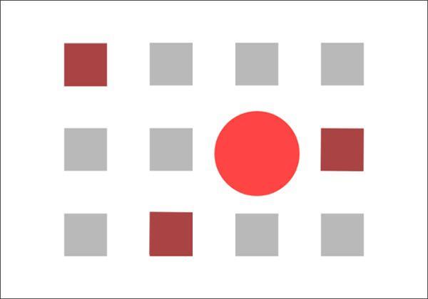 визуальный центр — это точка, в которой человек фокусируется, рассматривая дизайнерский элемент