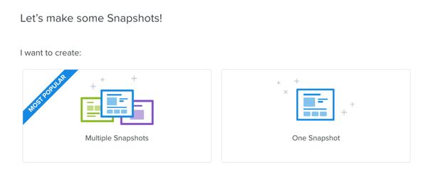 В Crazy Egg есть инструмент Multiple Snapshots для создания нескольких снимков одновременно, что ускоряет процесс