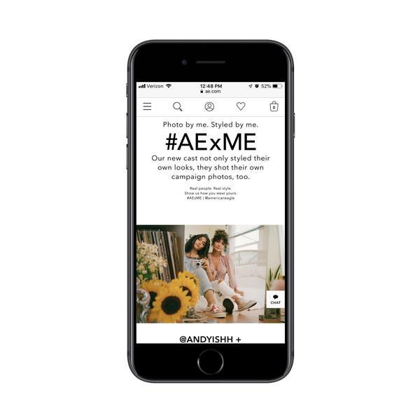 American Eagle просит клиентов стать неофициальными лидерами мнений в AE x ME
