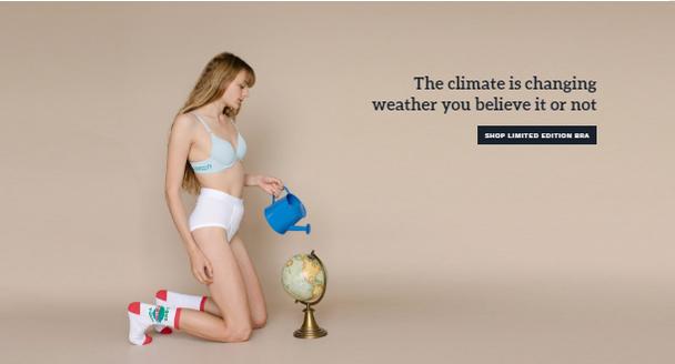 Верите вы в это или нет, но климат реально меняется. Покупайте лимитированные бюстгальтеры