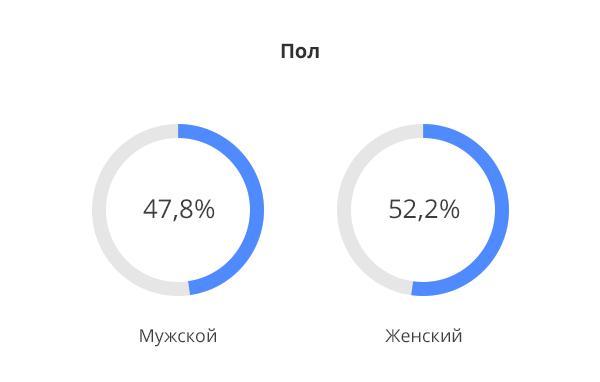 Демографические данные по аудитории