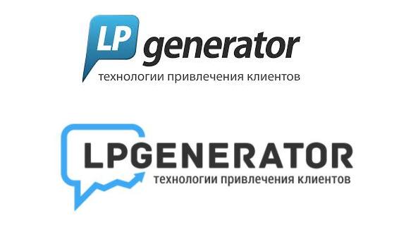 Эволюция логотипа платформы LPgenerator