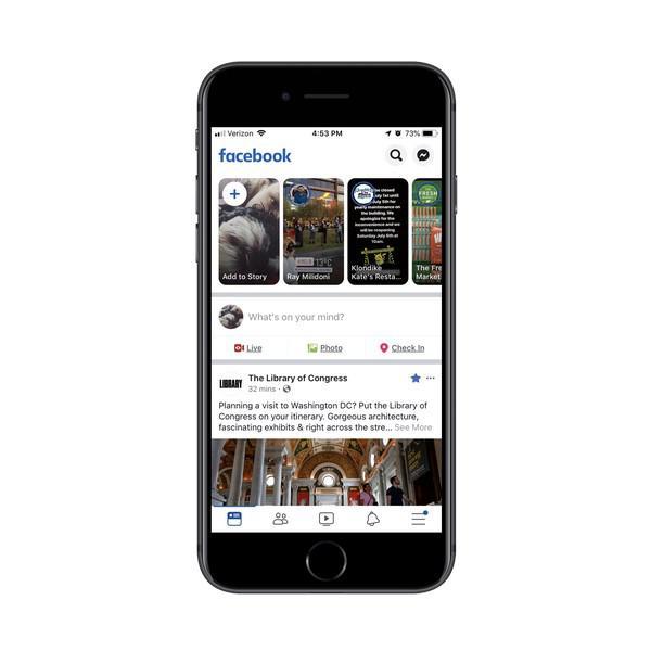 С помощью маленькой синей точки Facebook оповещает вас о наличии нового уведомления