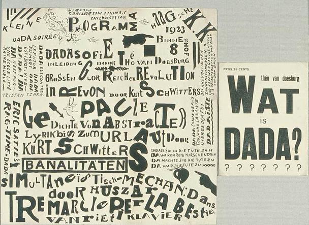 Дадаистский плакат нидерландского художника Тео ван Дусбурга (Theo van Doesburg).