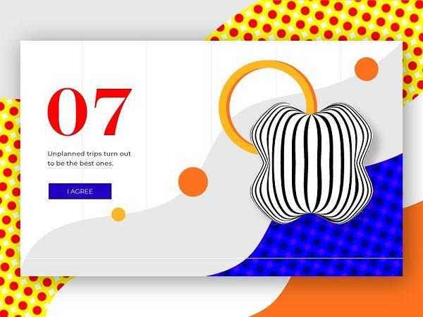 Органическая, абстрактная геометрическая иллюстрация для веб-страницы