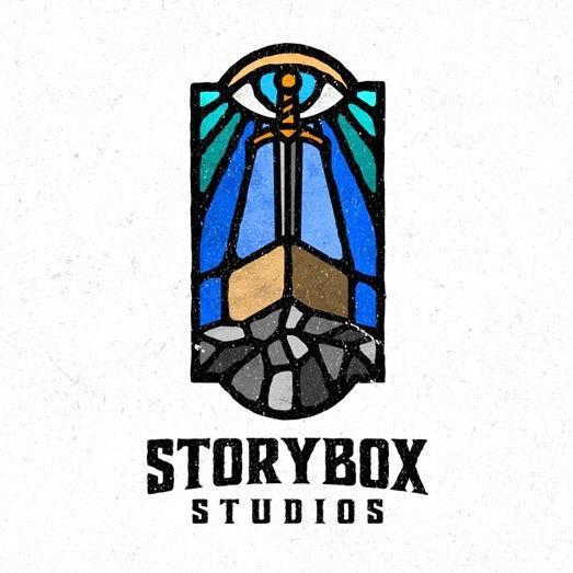 Этот современный дизайн логотипа включает изображение классического витража